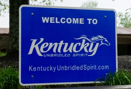 Welcome to Kentucky road sign