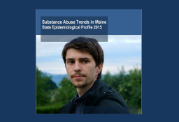 Cover of Maine's 2015 State Epidemiological Profile with young man standing outside