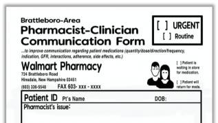 Pharmacist-Clinician Communication Form