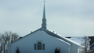 Kentucky church in winter