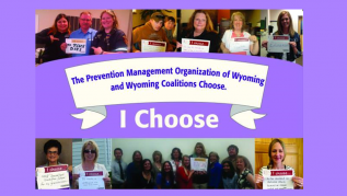 Prevention Management Organization of Wyoming and Wyoming Coalitions Choose volunteers